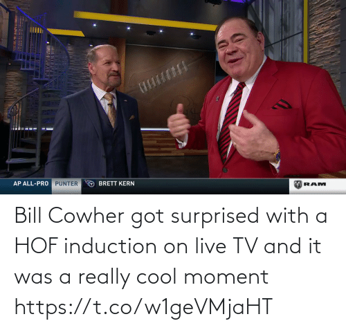 surprised: Bill Cowher got surprised with a HOF induction on live TV and it was a really cool moment   https://t.co/w1geVMjaHT