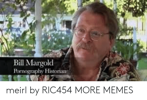 Pornography: Bill Margolod  Pornography Historian meirl by RIC454 MORE MEMES