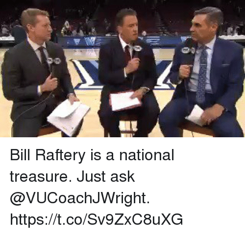 Memes, 🤖, and Ask: Bill Raftery is a national treasure. Just ask @VUCoachJWright. https://t.co/Sv9ZxC8uXG