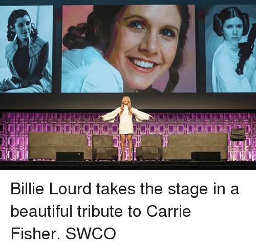 Beautiful, Carrie Fisher, and Memes: Billie Lourd takes the stage in a beautiful tribute to Carrie Fisher. SWCO