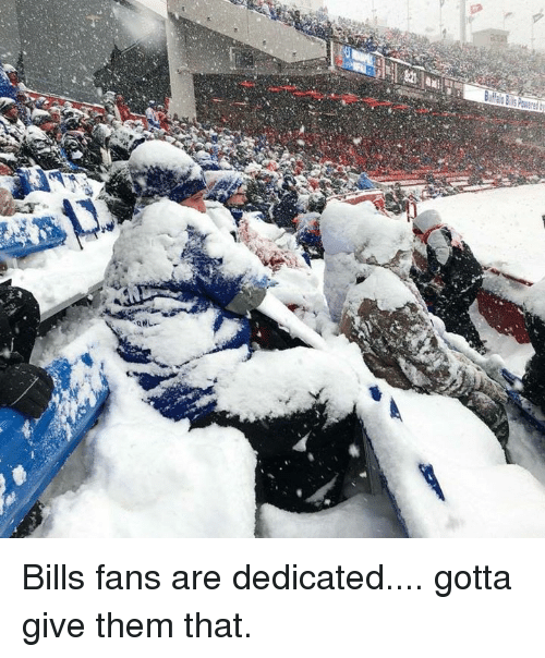 Memes, Bills, and 🤖: Bills fans are dedicated.... gotta give them that.