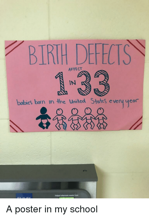 Bobies: BIRTH DEFECTS  1-33  AFFECT  bobies born in the United Stotes eveny yeor  Holped ellminate waste from
