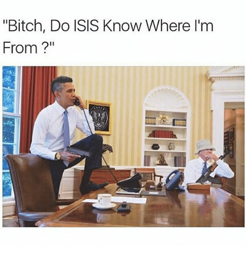 """Dank Memes: """"Bitch, Do ISIS Know Where I'm  From"""