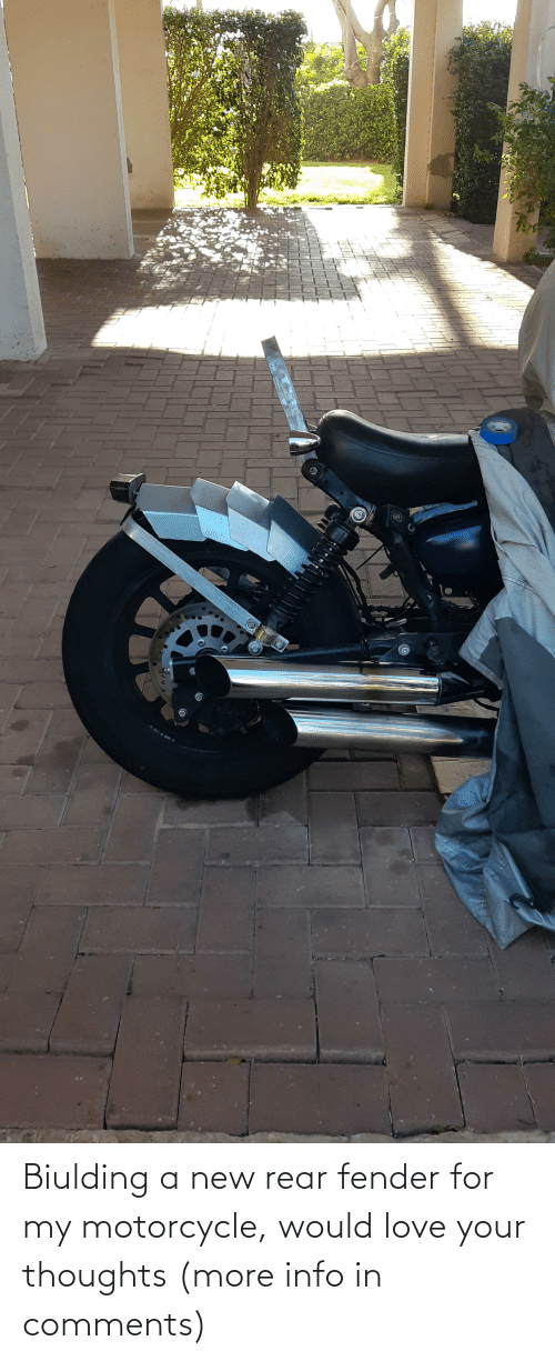 Motorcycle: Biulding a new rear fender for my motorcycle, would love your thoughts (more info in comments)