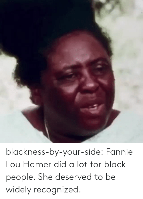 Fannie Lou Hamer: blackness-by-your-side: Fannie Lou Hamer did a lot for black people. She deserved to be widely recognized.