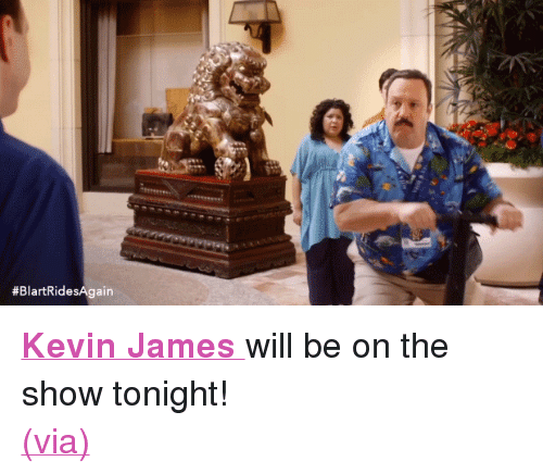 """Kevin James: <p><a href=""""http://www.nbc.com/the-tonight-show/filters/guests/117196"""" target=""""_blank""""><b>Kevin James </b></a>will be on the show tonight!</p><p><a href=""""http://sonypicturesuk.tumblr.com/post/115761672737"""" target=""""_blank"""">(via)</a><br/></p>"""