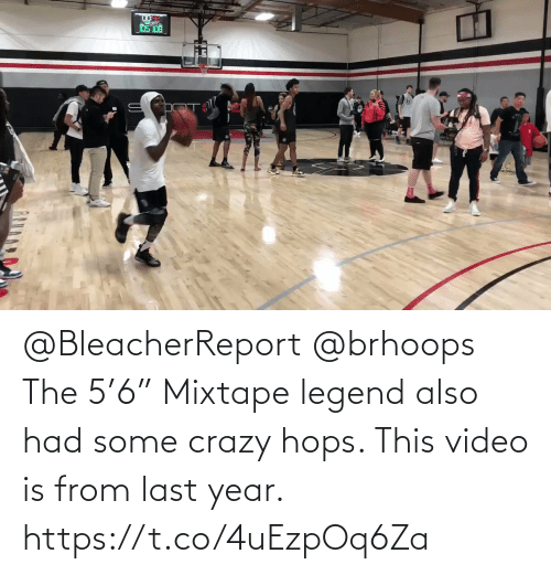 """hops: @BleacherReport @brhoops The 5'6"""" Mixtape legend also had some crazy hops. This video is from last year.   https://t.co/4uEzpOq6Za"""