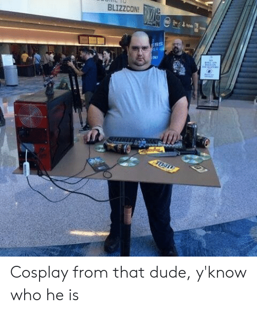 Blizzcon: BLIZZCON!RC  ESS  EA Cosplay from that dude, y'know who he is