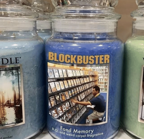 amber: BLOCKBUSTER  DLE  EA  BO. and weird carpet fragrance  Fond MemoryY  d amber