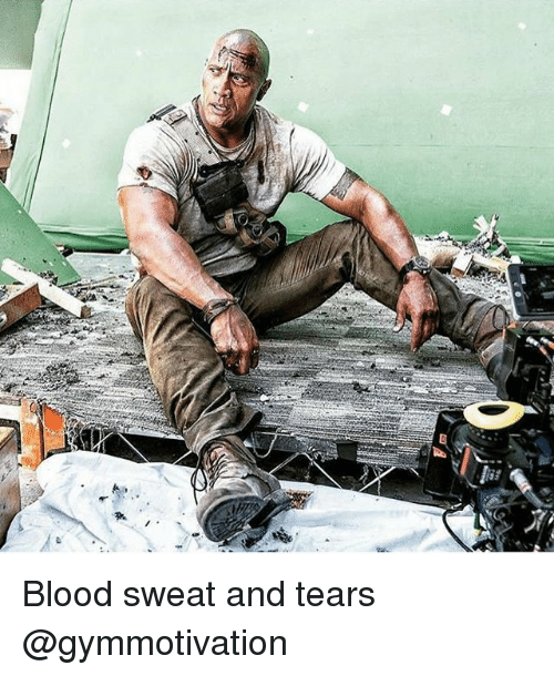Bloods, Memes, and 🤖: Blood sweat and tears @gymmotivation