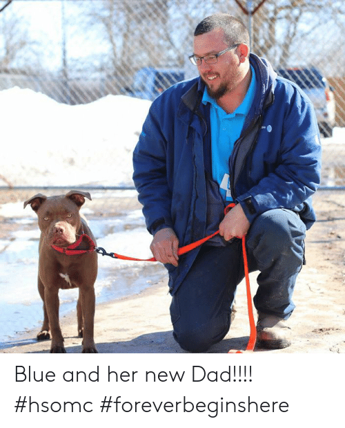 new dad: Blue and her new Dad!!!! #hsomc #foreverbeginshere