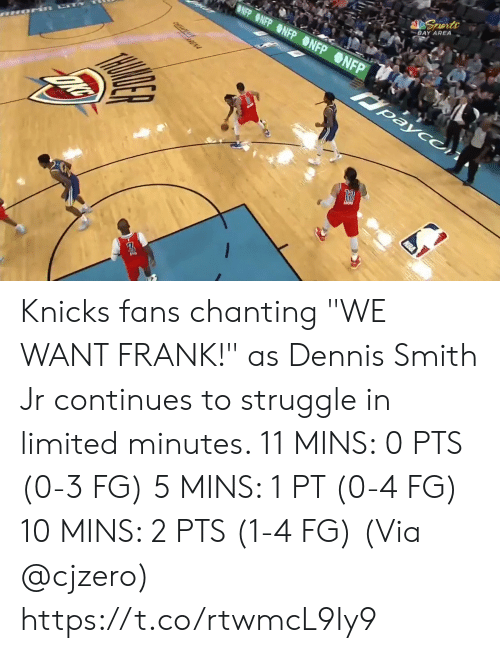 "mis: BLUE SEATS  KIA  MIS BUDY'S FOR YOU.  TH  FOR  BONUS  BONUS  29.6  81  76  3RD 24  AMSG  BOS  NYK  LIVE  s, 2 reb, 4 ast, 1 blk L Smith: 10 pts, 2 reb, 3 astTV  NBA SCORES  WIZARDS Knicks fans chanting ""WE WANT FRANK!"" as Dennis Smith Jr continues to struggle in limited minutes.   11 MINS: 0 PTS (0-3 FG) 5 MINS: 1 PT (0-4 FG) 10 MINS: 2 PTS (1-4 FG)  (Via @cjzero)  https://t.co/rtwmcL9Iy9"