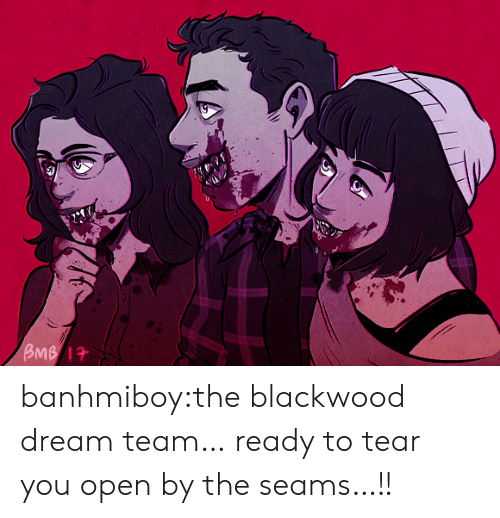 dream team: BMB 1 banhmiboy:the blackwood dream team… ready to tear you open by the seams…!!