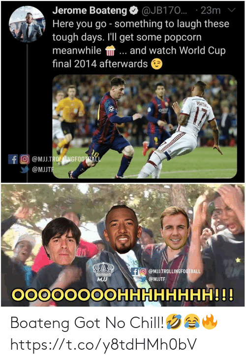 No chill: Boateng Got No Chill!🤣😂🔥 https://t.co/y8tdHMh0bV
