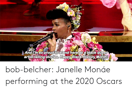 Oscars: bob-belcher:  Janelle Monáe performing at the 2020 Oscars