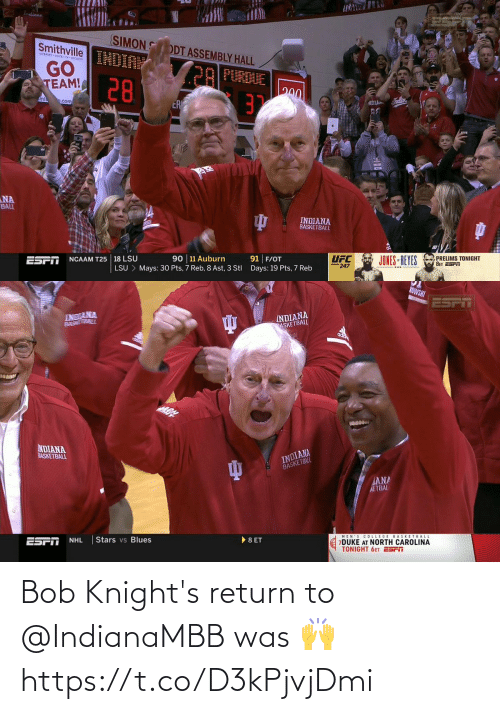 knights: Bob Knight's return to @IndianaMBB was 🙌 https://t.co/D3kPjvjDmi