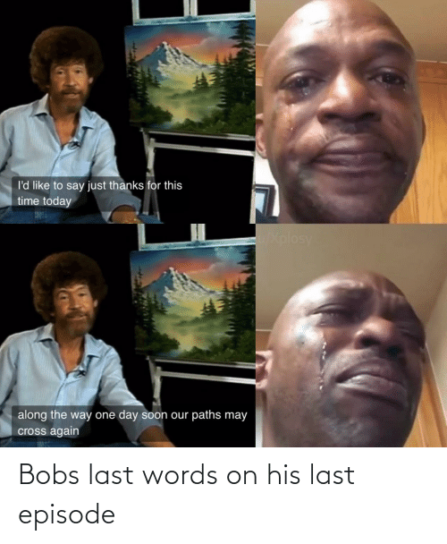 Last: Bobs last words on his last episode