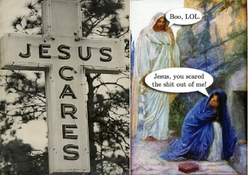 boo: Boo, LOL  JESUS  Jesus, you scared  the shit out of me!  UARES