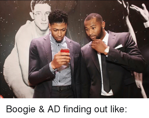 Boogies: Boogie & AD finding out like: