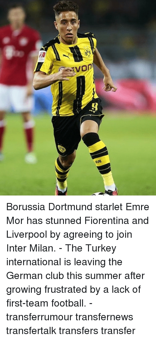 Turkeyism: Borussia Dortmund starlet Emre Mor has stunned Fiorentina and Liverpool by agreeing to join Inter Milan. - The Turkey international is leaving the German club this summer after growing frustrated by a lack of first-team football. - transferrumour transfernews transfertalk transfers transfer