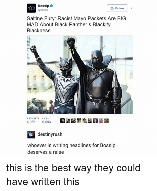 "Best, Black, and Bossip: Bossip  @Bossip  "" Follow 