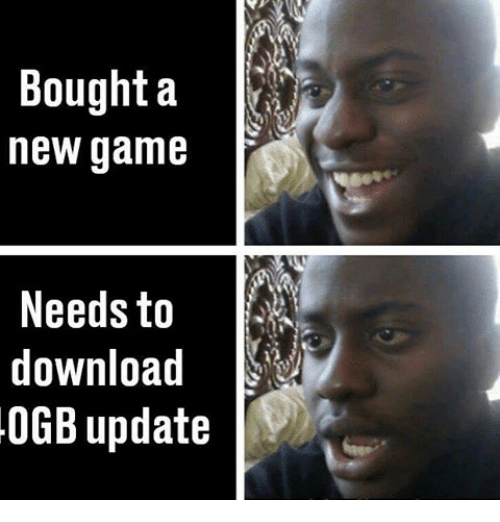 new games: Bought a  new game  Needs to  download  0GB update