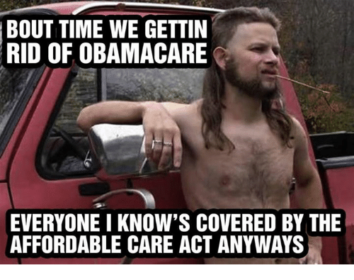Image result for we hate obamacare we love the affordable care act
