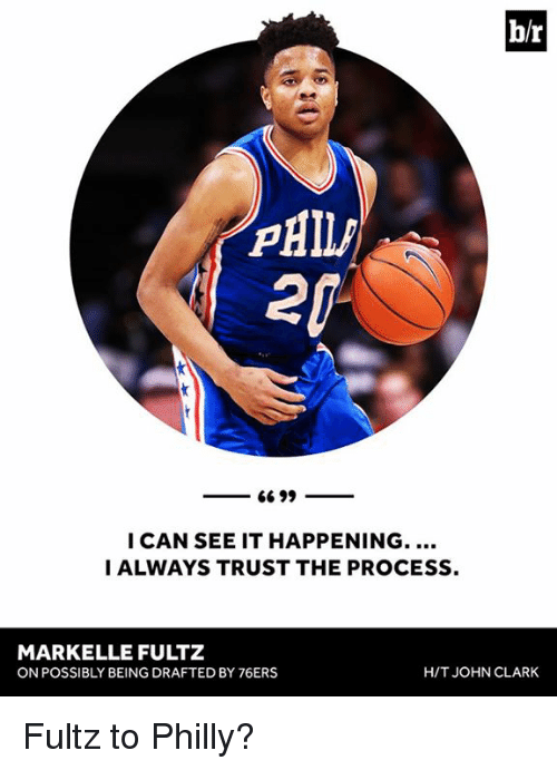 Markelle Fultz: br  66 99  I CAN SEE IT HAPPENING.  I ALWAYS TRUST THE PROCESS.  MARKELLE FULTZ  HIT JOHN CLARK  ON POSSIBLY BEING DRAFTED BY 76ERS Fultz to Philly?