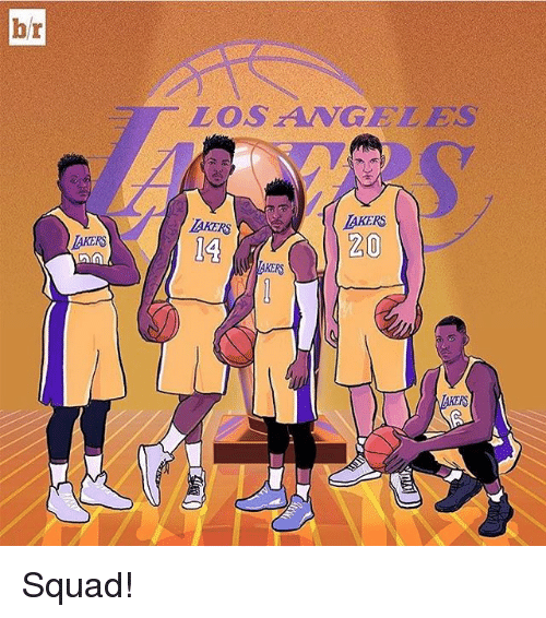 Los Angeles Lakers: br  AKERS  AA  LOS ANGELES  LAKERS  20 Squad!