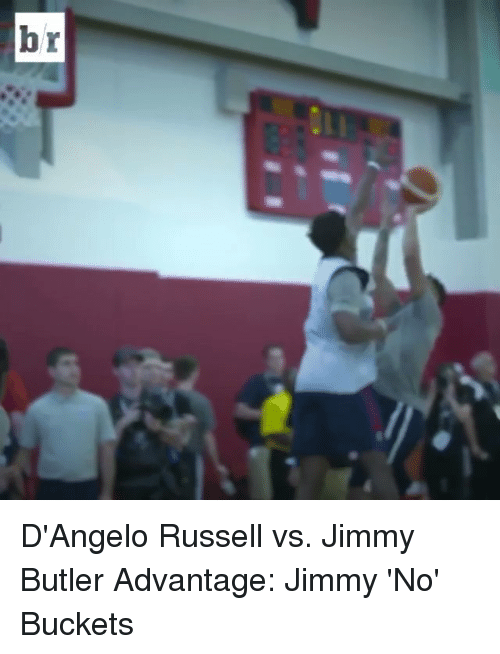 Jimmy Butler, Sports, and d'Angelo Russell: br D'Angelo Russell vs. Jimmy Butler Advantage: Jimmy 'No' Buckets