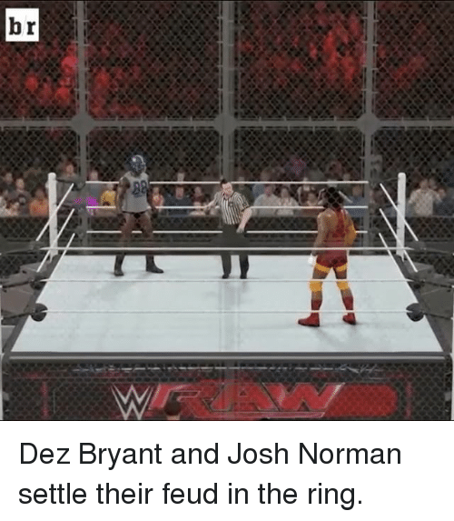 Dez Bryant, Josh Norman, and Sports: br Dez Bryant and Josh Norman settle their feud in the ring.