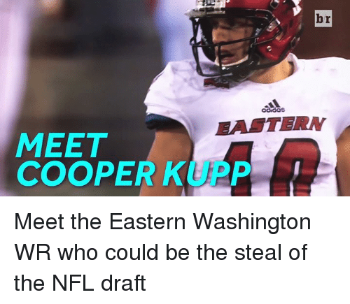 Nfl, NFL Draft, and Washington: br  EALTERN  MEET  COOPER KUAP Meet the Eastern Washington WR who could be the steal of the NFL draft