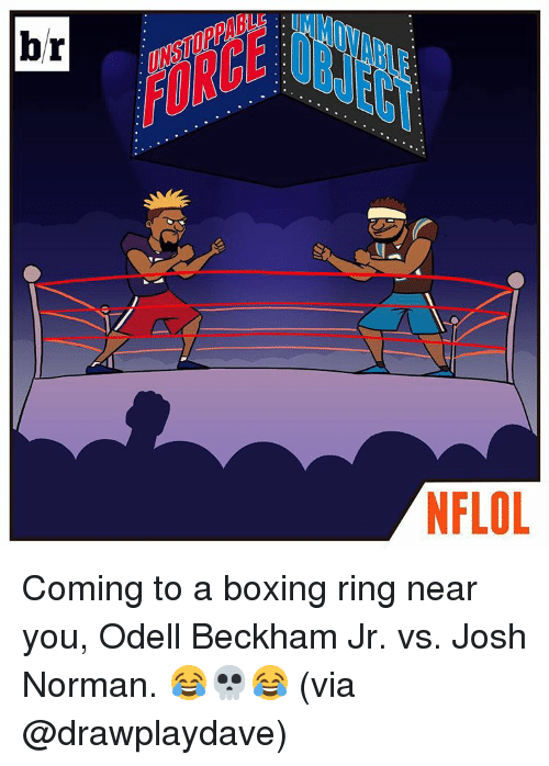 Boxing, Josh Norman, and Odell Beckham Jr.: br  NFLOL Coming to a boxing ring near you, Odell Beckham Jr. vs. Josh Norman. 😂💀😂 (via @drawplaydave)