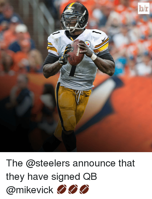 Steelers: br The @steelers announce that they have signed QB @mikevick 🏈🏈🏈