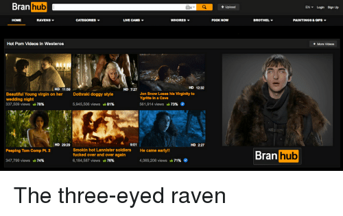Beautiful, Doggy Style, and Game of Thrones: Bran hub  hub  Upload  EN Login Sign Up  HOME  RAVENS ▼  LIVE CAMS ▼  WHORES ▼  BROTHEL ▼  PAINTINGS & GIFs ▼  Hot Pom Videos In Westeros  More Videos  HD 11:59  HD 7:27  HD 12:32  Beautiful Young virgin on her  wedding night  337,509 viewS yla 78%  Jon Snow Loses his Virginity to  Ygritte in a Cave  Dothraki doggy style  5,945,506 views 1.81%  561,914 views-7396  29:29  9:01  HD 2:27  HD  Smokin hot Lannister soldiers  fucked over and over again  6,184,587 views 76%  Bran hub  Peeping Tom Comp Pt 2  He came early!!  347,799 views  74%  4,069,206 views  71% The three-eyed raven