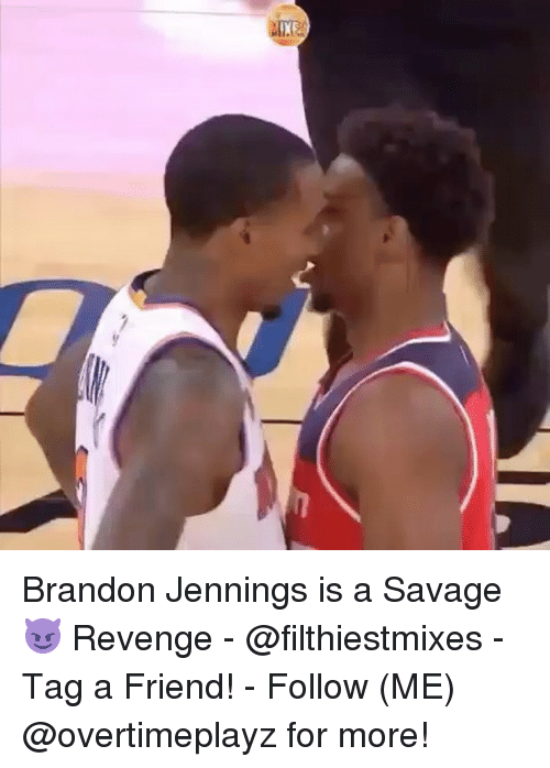 brandon jennings: Brandon Jennings is a Savage😈 Revenge - @filthiestmixes - Tag a Friend! - Follow (ME) @overtimeplayz for more!
