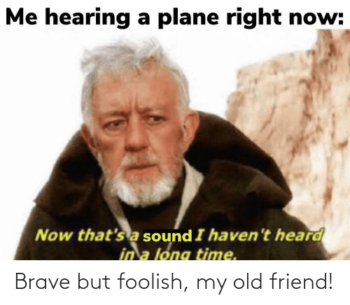 My Old Friend: Brave but foolish, my old friend!