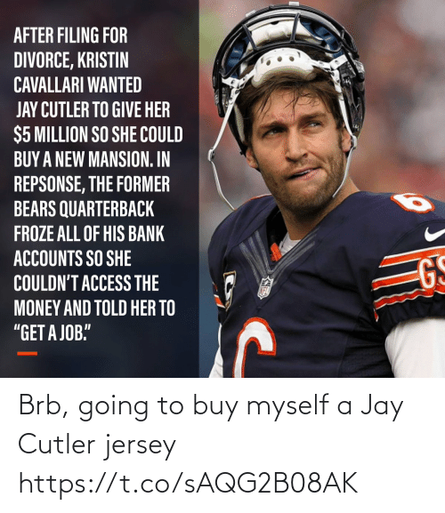 cutler: Brb, going to buy myself a Jay Cutler jersey https://t.co/sAQG2B08AK