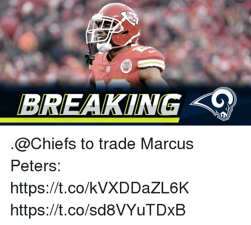 Memes, Chiefs, and 🤖: BREAKING .@Chiefs to trade Marcus Peters: https://t.co/kVXDDaZL6K https://t.co/sd8VYuTDxB