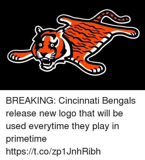 Cincinnati: BREAKING: Cincinnati Bengals release new logo that will be used everytime they play in primetime https://t.co/zp1JnhRibh