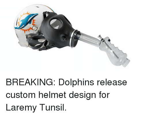 Dolphin, Dolphins, and Laremy Tunsil: BREAKING: Dolphins release custom helmet design for Laremy Tunsil.