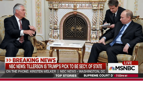 BREAKING NEWS LIVE NBC NEWS TILLERSON IS TRUMPiS PICK TO ...