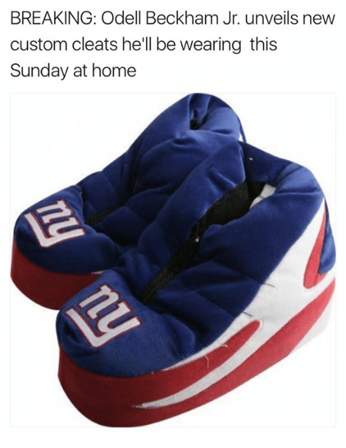 Odell Beckham Jr., Home, and Sunday: BREAKING: Odell Beckham Jr. unveils new  custom cleats he'll be wearing this  Sunday at home