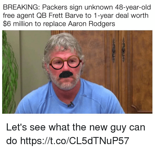 Aaron Rodgers >> BREAKING Packers Sign Unknown 48-Year-Old Free Agent QB ...