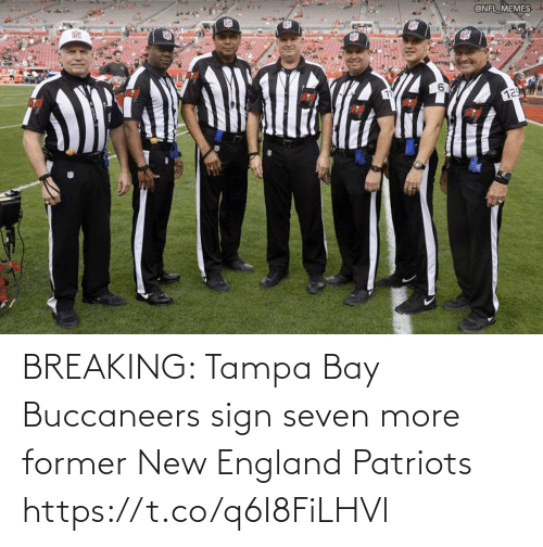 buccaneers: BREAKING: Tampa Bay Buccaneers sign seven more former New England Patriots https://t.co/q6I8FiLHVl