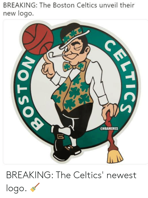 Boston Celtics: BREAKING: The Boston Celtics unveil their  new logo.  @NBAMEMES BREAKING: The Celtics' newest logo. 🧹