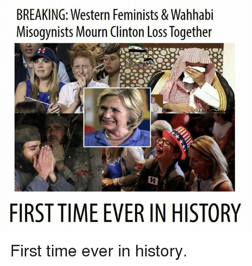 breaking western feminists wahhabi misogynists mourn clinton loss together 6256152 breaking western feminists & wahhabi misogynists mourn clinton