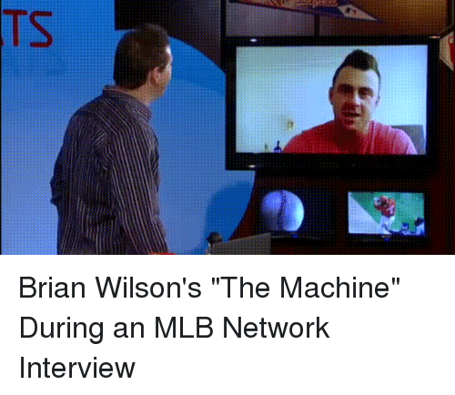 "Funny, Mlb, and Network: Brian Wilson's ""The Machine"" During an MLB Network Interview"