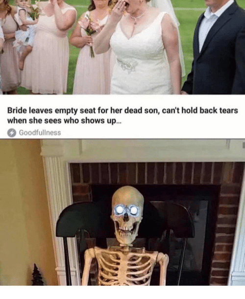 Back, Her, and Who: Bride leaves empty seat for her dead son, can't hold back tears  when she sees who shows up  Goodfullness