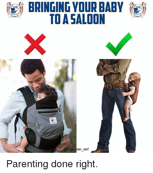 Parenting Done Right: BRINGING YOUR BABY  TO A SALOON  meri  an asf Parenting done right.